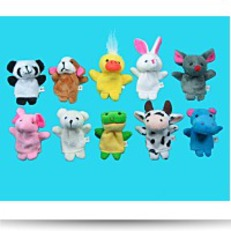Save 10 Pc Soft Plush Animal Finger Puppet