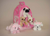 plush pink house dogs five stuffed