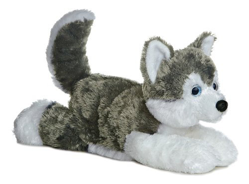 Shadow siberian Husky 12 Plush Dog